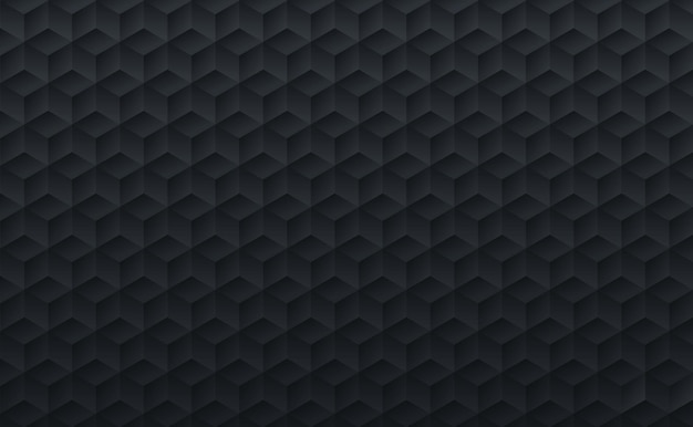 Abstract black gradient color geometric cube mosaic shapes background and texture.
