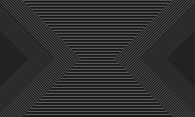 Abstract black and gray square with lines pattern. design for brochure.