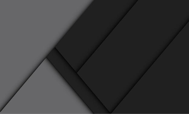 추상 검은 회색 기하학적 그림자 빈 공간 디자인