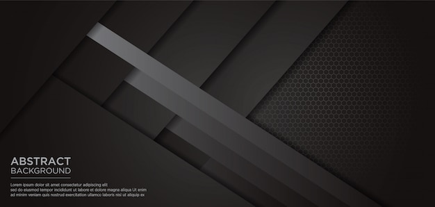 Abstract black grey template background