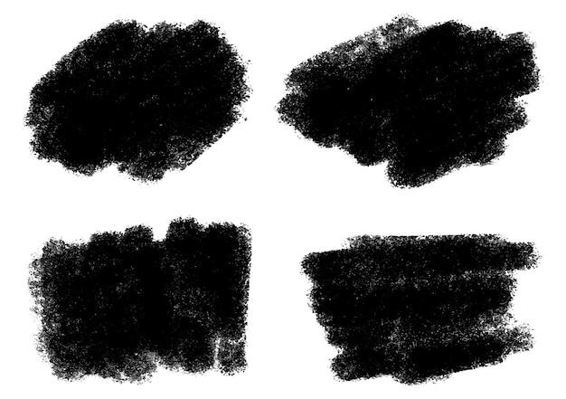 Abstract black grunge brush set