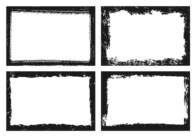 Коллекция рамок абстрактный черный гранж