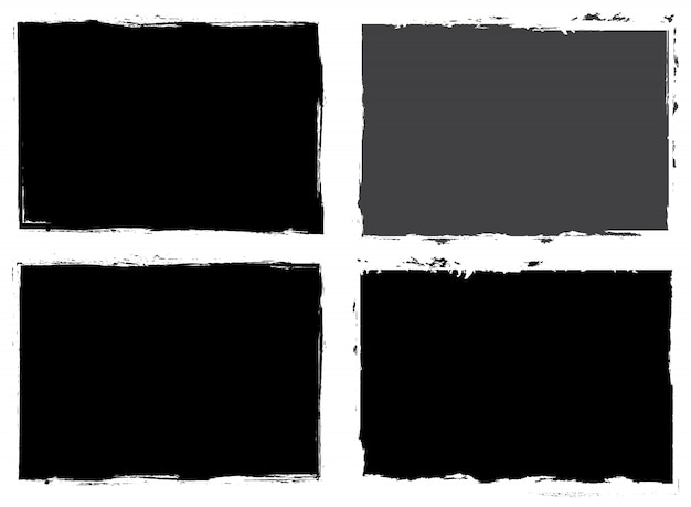 Abstract black grunge frames
