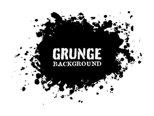 Abstract black grunge splash banner