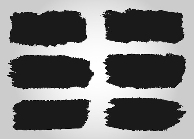 Abstract black grunge strokes