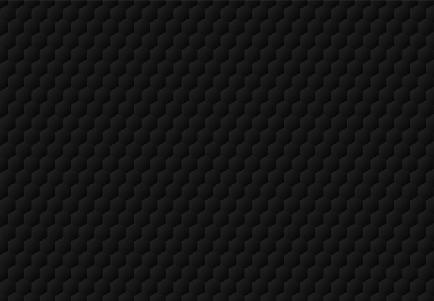 Абстрактный черный шестиугольник с тиснением узором темный фон