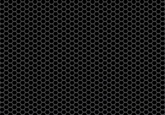 Abstract black hexagon mesh pattern background.