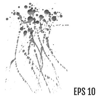 抽象的な黒インクスポットの背景