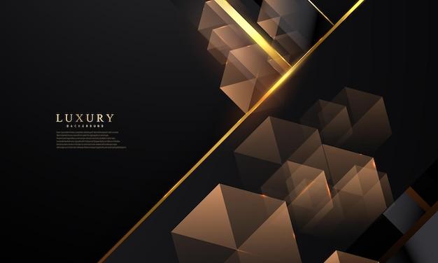 Абстрактная черная линия шестиугольник фон роскошный белый золотой современный