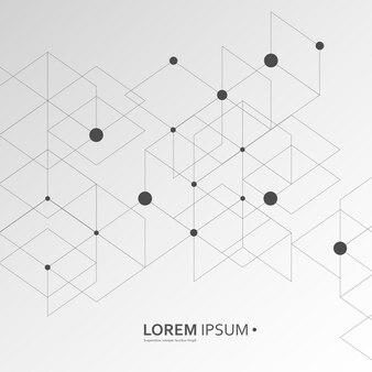 Abstract Black Line Pattern Hexagon