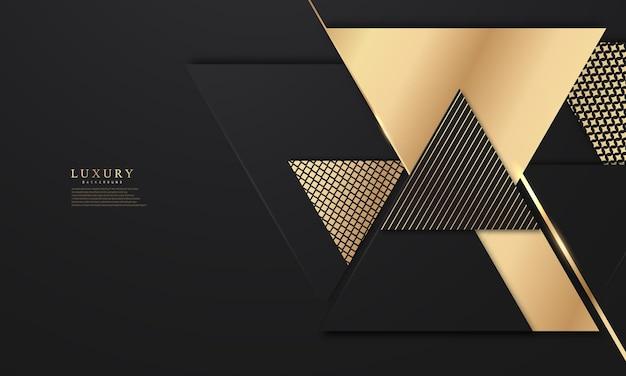 Абстрактная черная линия треугольник искусства фон роскошь белое золото современный