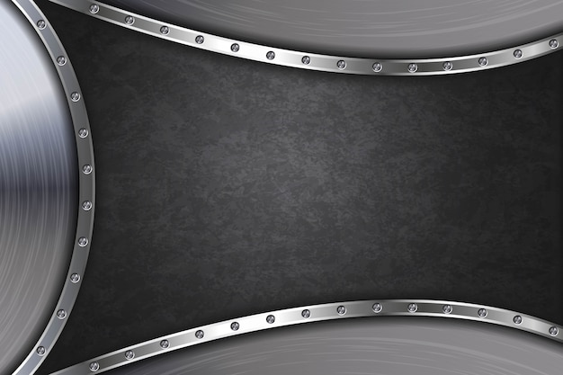Abstract black metal background