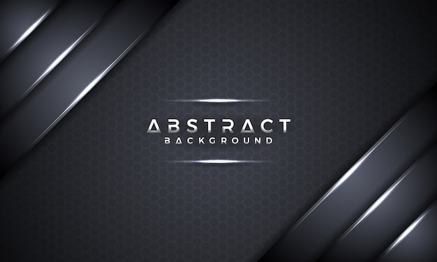 Abstract black metallic 3d vector background.