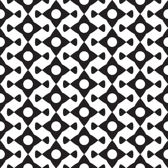 Abstract black minimalistic seamless pattern with geometric repeating shapes on white illustration