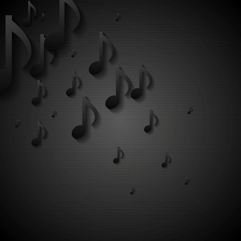Abstract black music background. vector illustration template