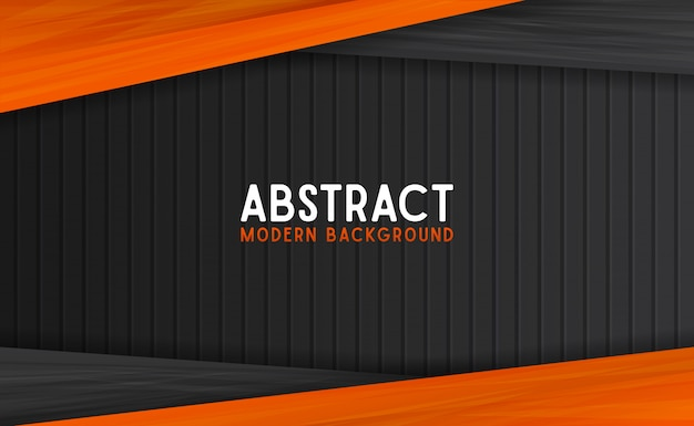 Abstract black and orange modern background