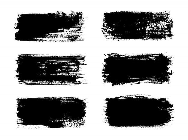 抽象的な黒いペイントストロークバナー