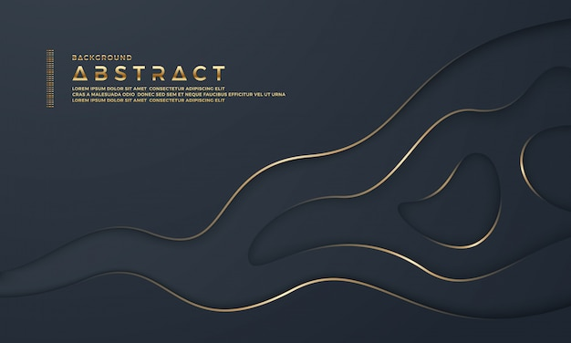 Abstract black paper cut background