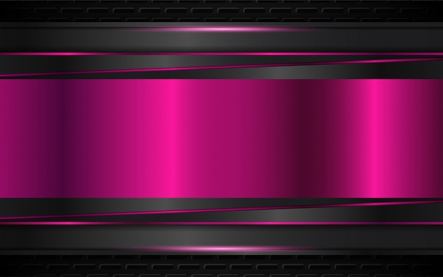 Abstract black and purple metallic shapes background