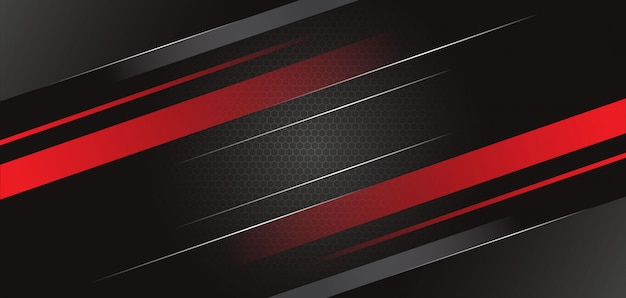 Abstract black red template background