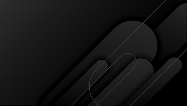 Disegno astratto sfondo nero forme