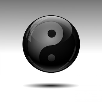 Abstract black sphere. vector illustration