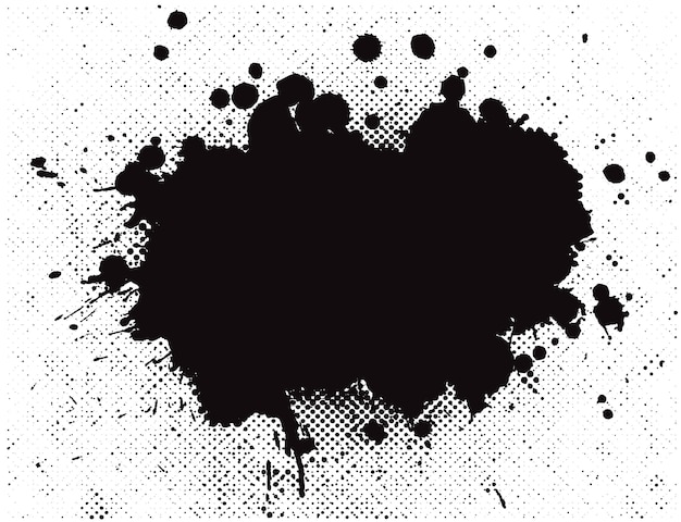 Abstract black splashes background