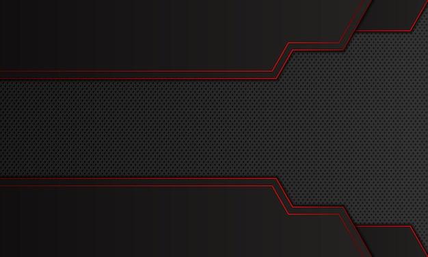 赤い線の背景を持つ抽象的な黒のストライプ。ベクトルイラスト。あなたのビジネスのための新しいデザイン。