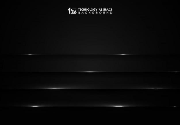 抽象的な黒い技術の背景。