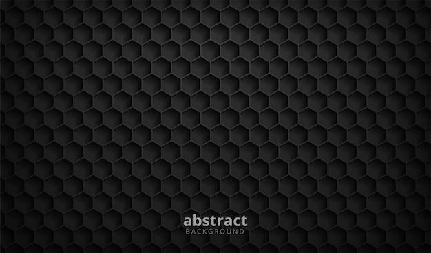 Абстрактный черный фон текстуры шестиугольника