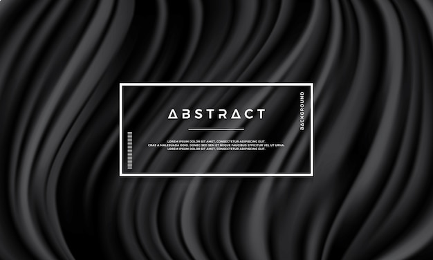 Abstract black texture, wave vector background