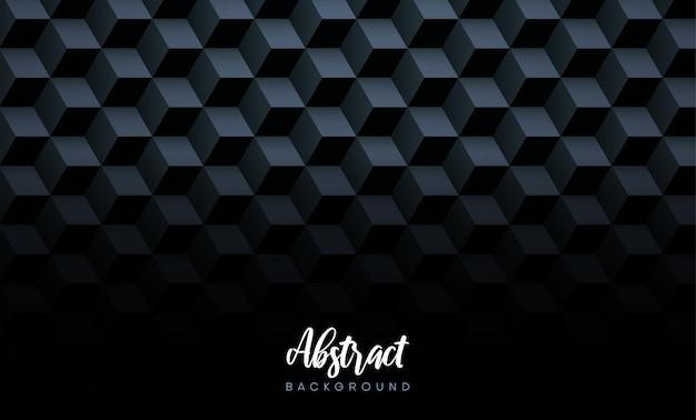 Абстрактная черная текстура с размытым рисунком 3d кубов векторный фон бумаги