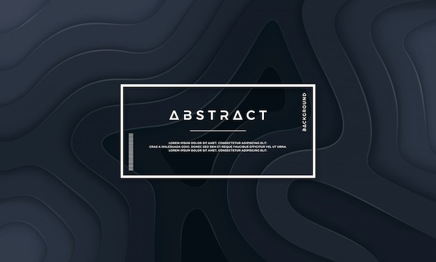 Abstract black textured background with wavy layers.
