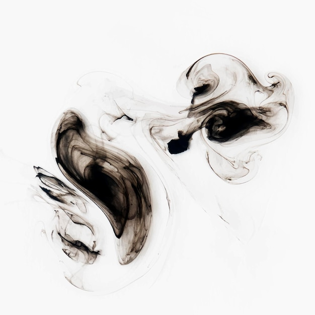 Abstract black watercolor background