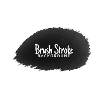 Abstract black watercolor brush stroke design design