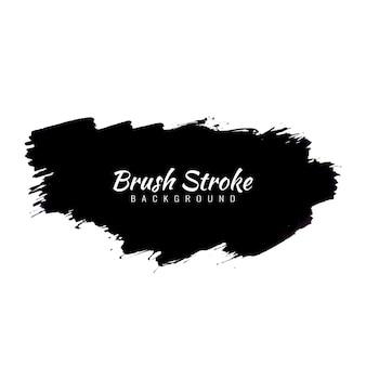 Abstract black watercolor brush stroke design vector