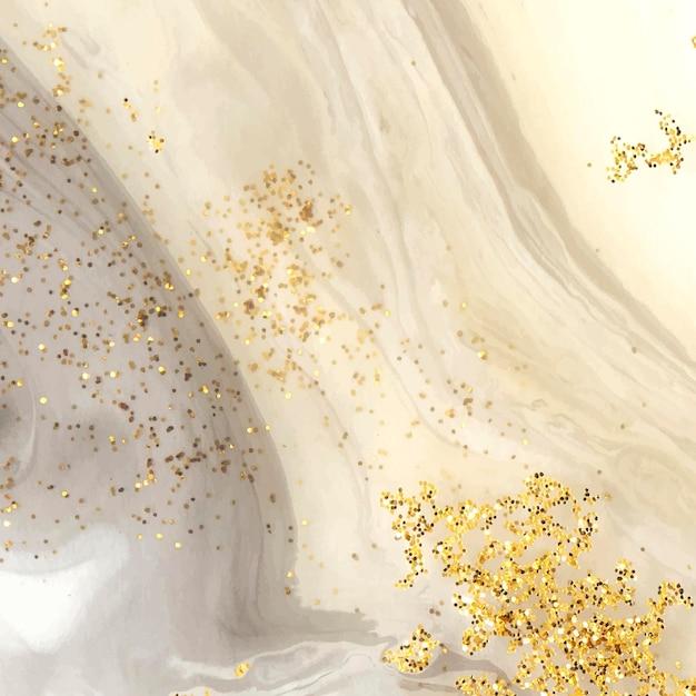Acquerello nero astratto e sfondo glitter oro