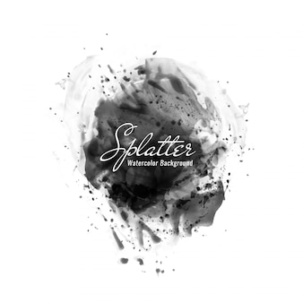Abstract black watercolor splatter background