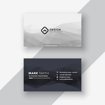 Abstract black and white business card