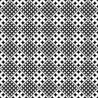 Abstract black and white curved star pattern background