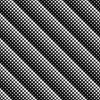 Abstract black and white dot seamless pattern