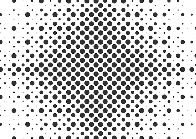 Abstract black and white dots halftone background, halftone background design
