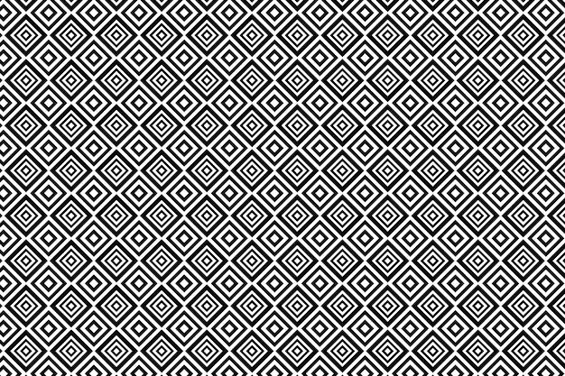 Abstract black and white geometric background for textile, print, fabric