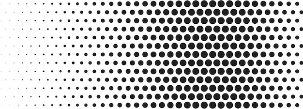 Abstract black and white halftone banner