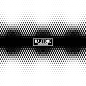 Abstract black and white halftone design