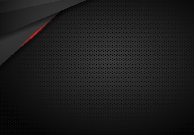 Abstract black with red frame template layout design tech concept background - vector