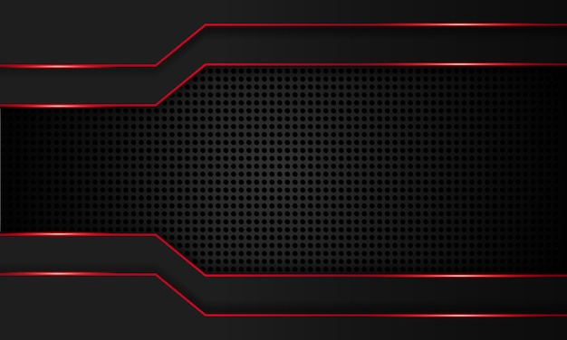 빨간 선 기술 배경, 현대 미래 벽지, 단단한 질감, 깊은 미래 배경으로 추상 검은.