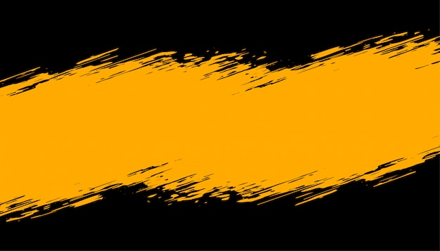 Abstract black and yellow grunge background