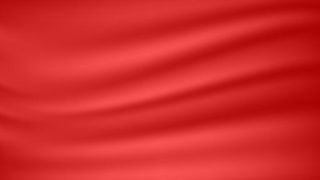 装飾的なグラフィックデザイン要素の抽象的な空白の赤い柔らかいサテン生地のテクスチャ背景