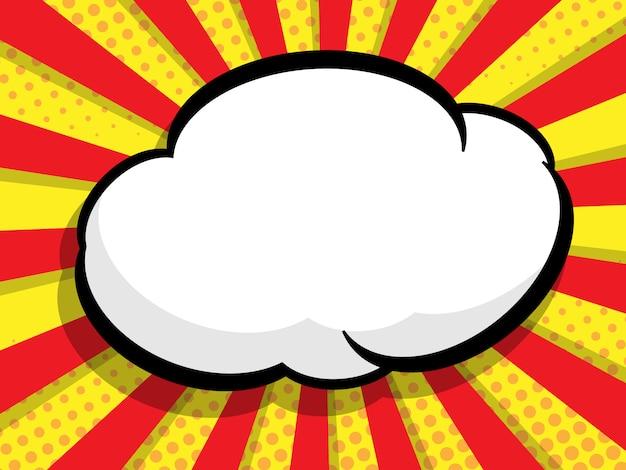 Abstract blank speech bubble pop art in comic style background